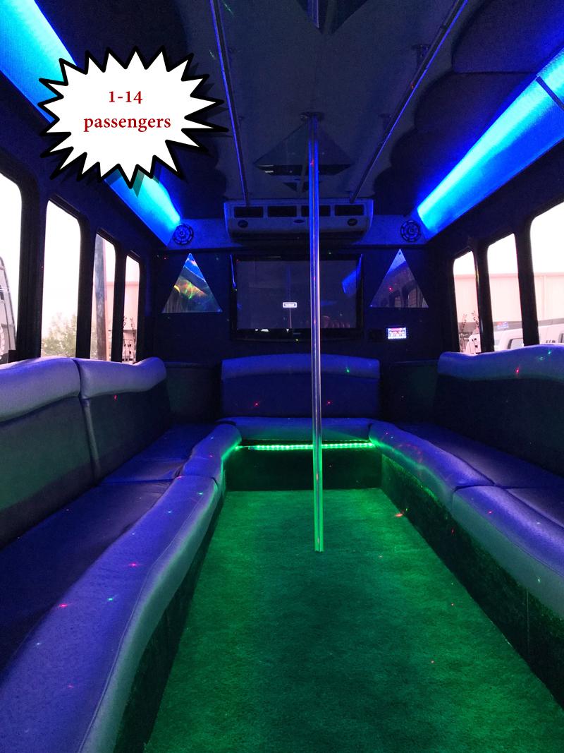 1-14 passenger party-bus